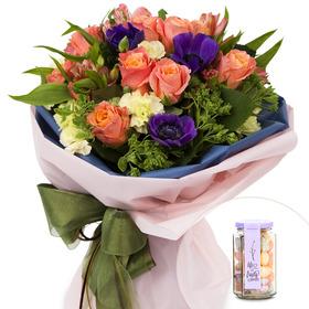 꽃다발+사탕 130