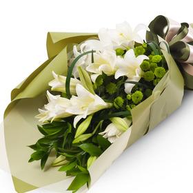 백합소국꽃다발 b8587