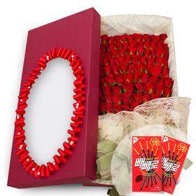 100송이꽃상자+빼빼로2개 v102