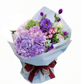 수국꽃다발 b726