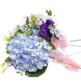 수국꽃다발 b6001